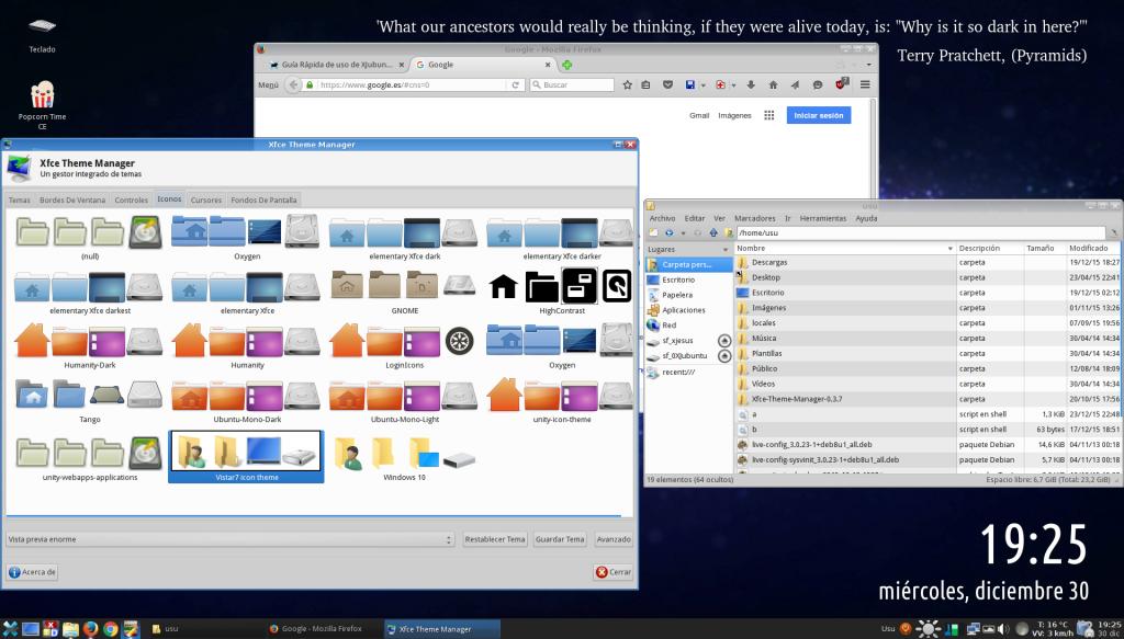 VirtualBox_XJubuntu Nuevos Iconos y tema